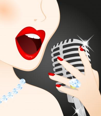 1....2...3... ESTAMOS EN EL AIRE  14388371-primer-plano-de-canto-hermosa-mujer-en-el-microfono