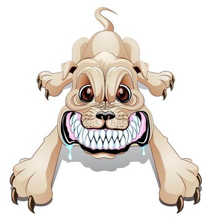 Ofrenda a la tormenta - Dolores Redondo 11705646-enojado-perro-grune-con-la-boca-abierta