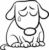 Trou de Fry (à gauche aprèS le groS cratère) 28459275-dessin-anim-noir-et-blanc-illustration-de-chien-triste-mignon-ou-chiot-pour-coloring-book