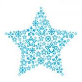 ★ Entre Estrellas ★ - Página 2 15406555-estrella-de-la-navidad-hecha-de-iconos-de-estrella-y-los-copos-de-nieve