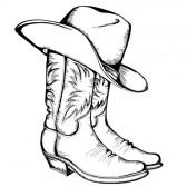 Lovett, Texas - Tome 3 : Sauve-moi ! de Rachel Gibson 17229564-bottes-de-cowboy-et-chapeau-illustration-graphique
