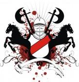 Galerie de Draco  10765332-heraldischen-schild-wappen-crest-pferd-im-vektor-format