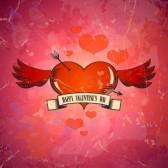 Alas para tu libertad. Desde Italia con amor - Carolina Paz (Rom) 16917200-retro-valentijn-kaart-met-hart-en-vleugels