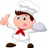RECETAS DE COCINA ,  FÁCILES  Y SANAS... 20219476-chef-cartoon-holding-a-metal-food-platter-and-thumb-up
