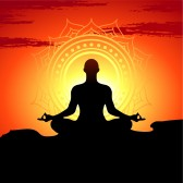 Les huit étapes du Yoga 14774088-illustration-de-poses-de-yoga-au-coucher-du-soleil-d-39-arriere-plan