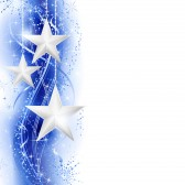 ★ Entre Estrellas ★ 11472373-border-frame-with-silver-stars-hanging-over-a-blue-silver-wavy-pattern-embellished-with-stars-and-sn