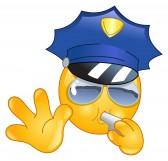 - PROBLÈMES sur le FORUM: citation, émoticônes, suppression, modification ... 8164353-policier-emoticone