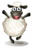 Mini provari v2.5 à la maison ... 19717718-illustration-d-39-un-mouton-heureux-sur-un-fond-blanc