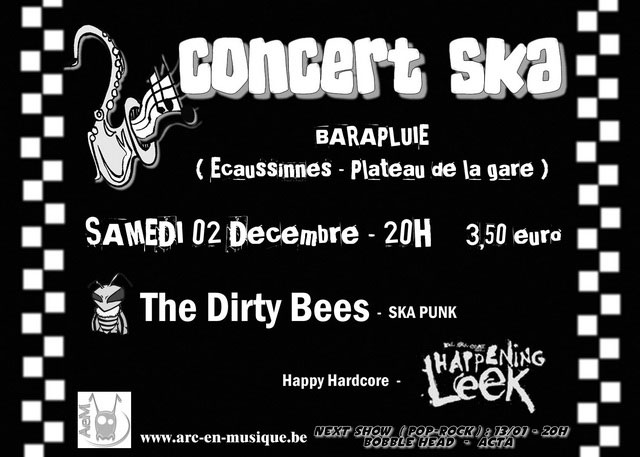 The dirty bees + happening leek - 2/12 - Ecaussinnes Barapluie_2decembre2006
