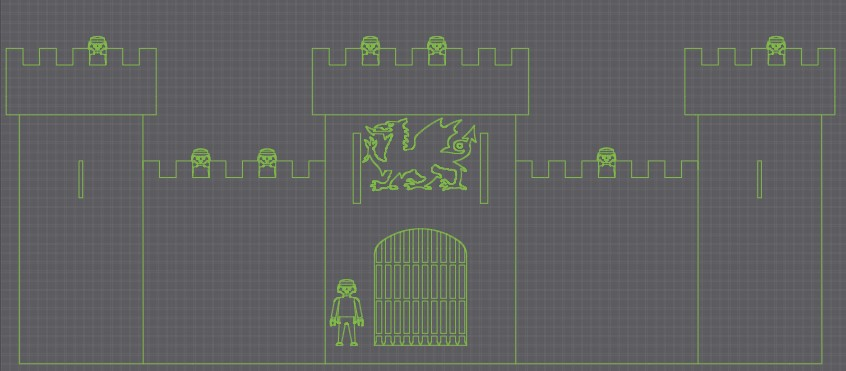 Un chateau-Fort a la CNC CF01