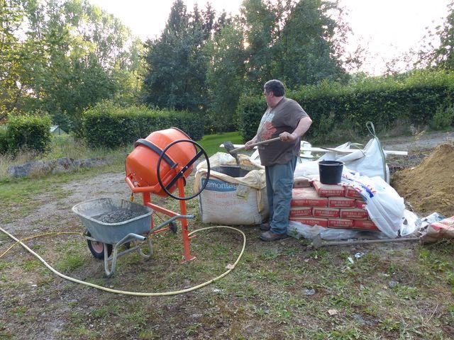 Installation PV + support au sol en auto-installation  PV05