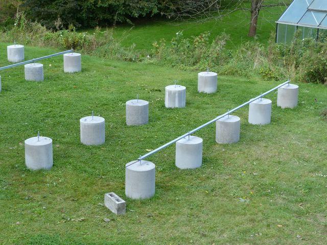 Installation PV + support au sol en auto-installation  PV17