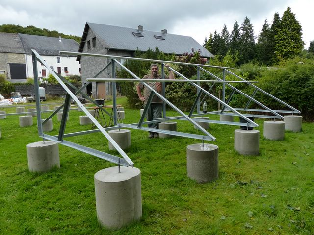 Installation PV + support au sol en auto-installation  PV18
