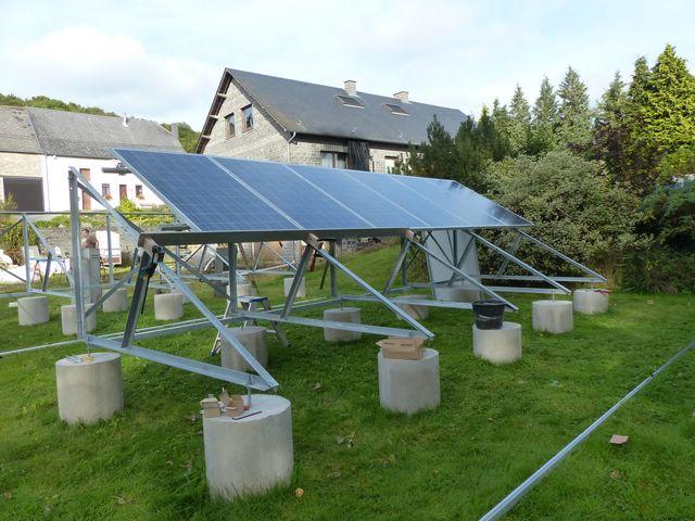 Installation PV + support au sol en auto-installation  PV19