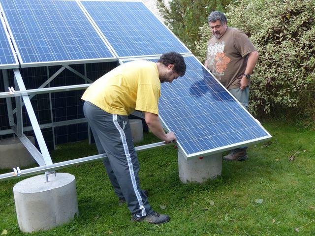 Installation PV + support au sol en auto-installation  PV22