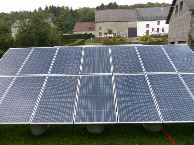 Installation PV + support au sol en auto-installation  PV23