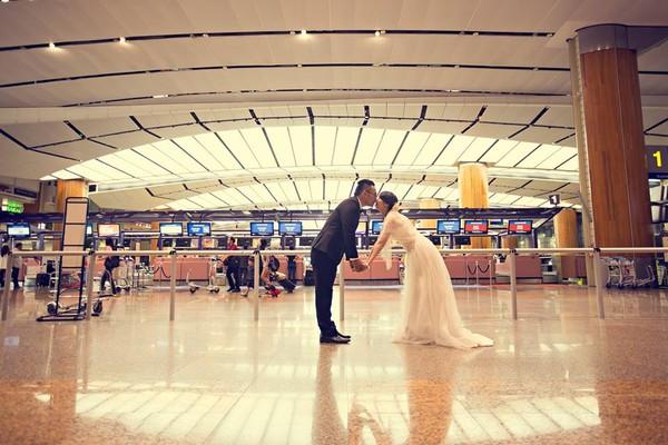 """Cặp đôi """"yêu nhau vì xấu"""" và bộ ảnh cưới chụp… ké trong 3 tháng 1413940359_6"""