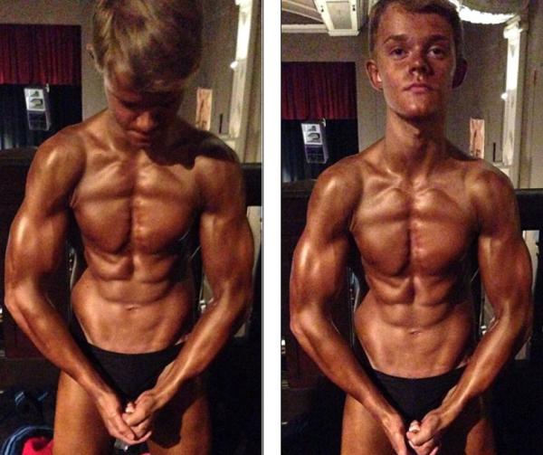 Cậu bé 14 tuổi có thân hình 6 múi, cơ bắp cuồn cuộn 1416304403_1
