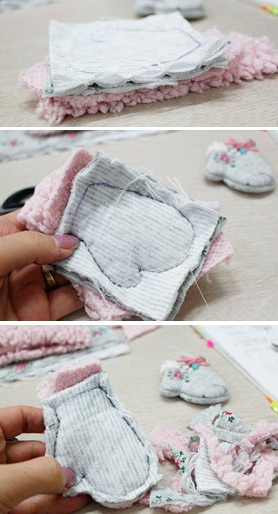 Xinh xinh móc khóa đôi găng tay mini 1416971686_6