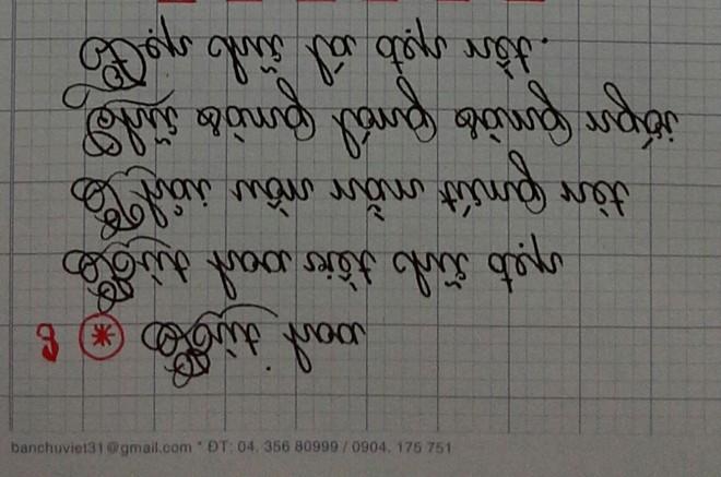 Cô gái có biệt tài viết chữ xoay ngược 180 độ đẹp như in 1418126535_4