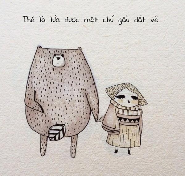 """Truyện tranh tình cảm: Câu chuyện đi tìm """"Gấu sưởi ấm mùa đông"""" của FA 1418193809_233"""