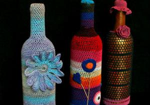 Бутылки в интерьере Primenenie-stekly%D0%B0nnyx-butyl%D0%BEk-10