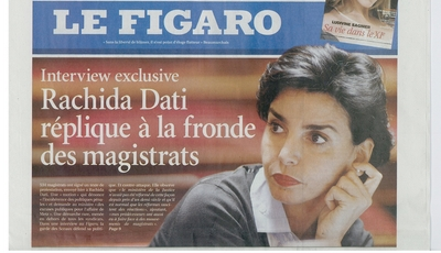 le Figaro retouche une photo de Rachida Dati à la une 1227190502