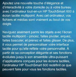 Hp touchsmart PC 1261834017
