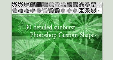 33 مجموعة اشكال لبرنامج Adobe Photoshop Backflip