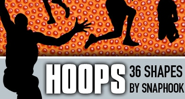 33 مجموعة اشكال لبرنامج Adobe Photoshop Hoopsshapes