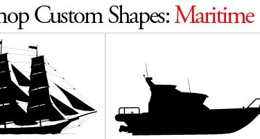 33 مجموعة اشكال لبرنامج Adobe Photoshop Maritime