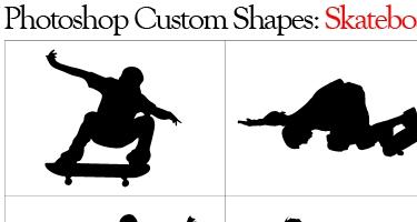 33 مجموعة اشكال لبرنامج Adobe Photoshop Skateshapes