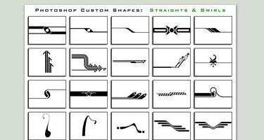 33 مجموعة اشكال لبرنامج Adobe Photoshop Thesuper