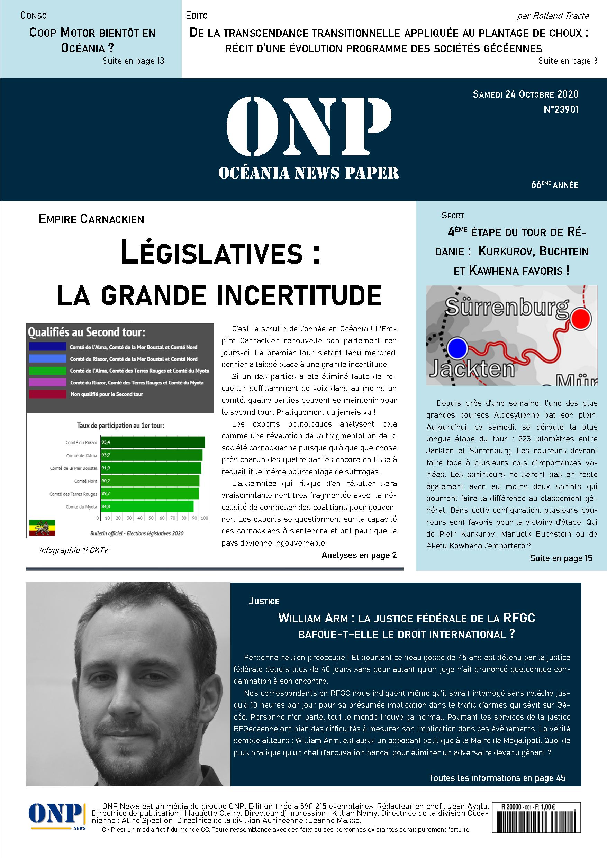ONP News N°23901 (samedi 24 octobre 2020) - Page 15 ONPNews23901