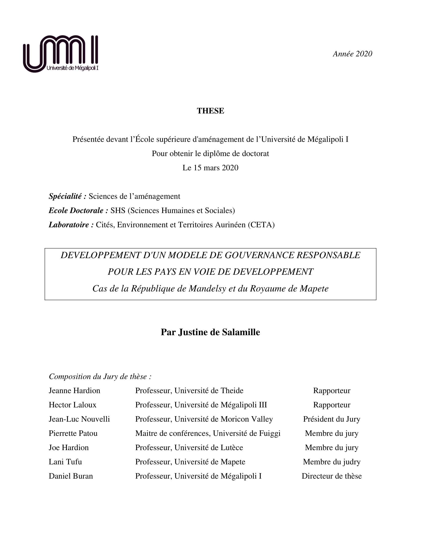Mandelsy - 24 heures de l'Aubrière, épreuve préliminaire - Page 56 CouvertureTheseJDS