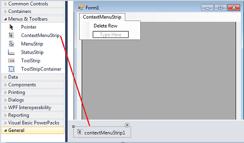 حذف صف من صفوف datagridview من خلال Right click Contextmenu