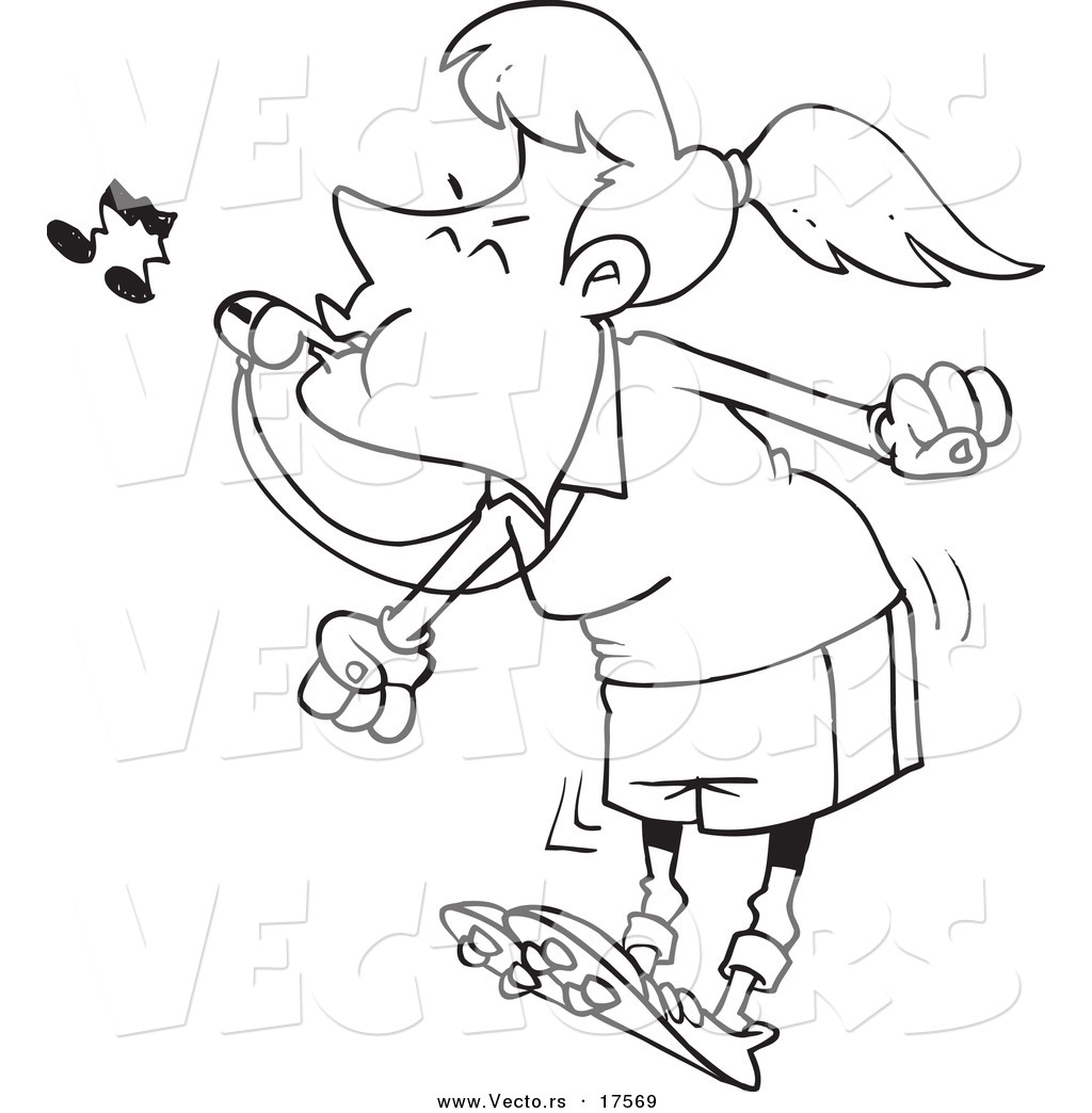 PAM IN CHAT LAST NIGHT Vector-of-a-cartoon-female-referee-blowing-a-whistle-coloring-page-outline-by-ron-leishman-17569