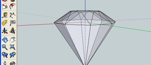 How to Create 3D Gemstones Using Adobe Illustrator and Google Sketchup 14