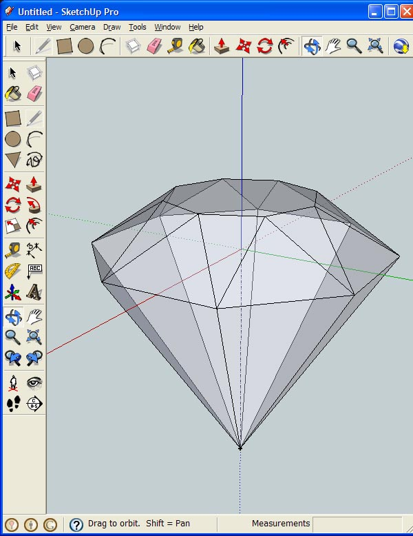 How to Create 3D Gemstones Using Adobe Illustrator and Google Sketchup 15