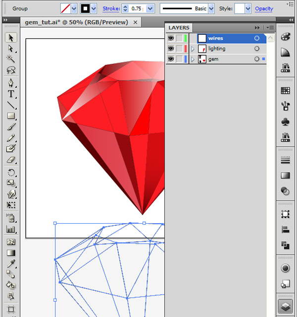 How to Create 3D Gemstones Using Adobe Illustrator and Google Sketchup 37