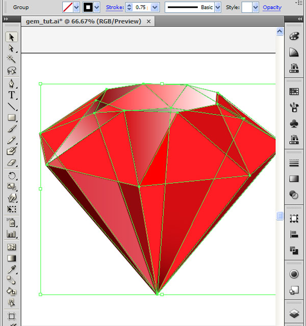 How to Create 3D Gemstones Using Adobe Illustrator and Google Sketchup 38