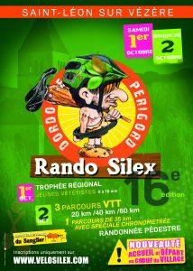Saint Léon sur Vézère (24) Rando Silex  2 Octobre 2016 Rando-silex-flyer-2016-214x300
