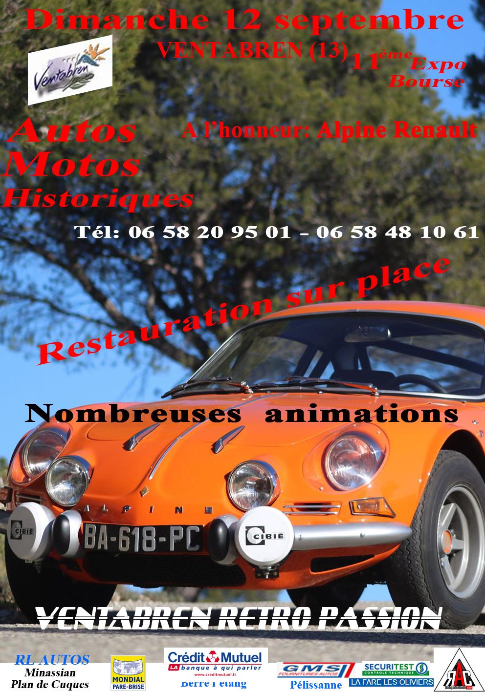 11ème expo-bourse de Ventabren le 12 septembre 2021 Affiche_expo