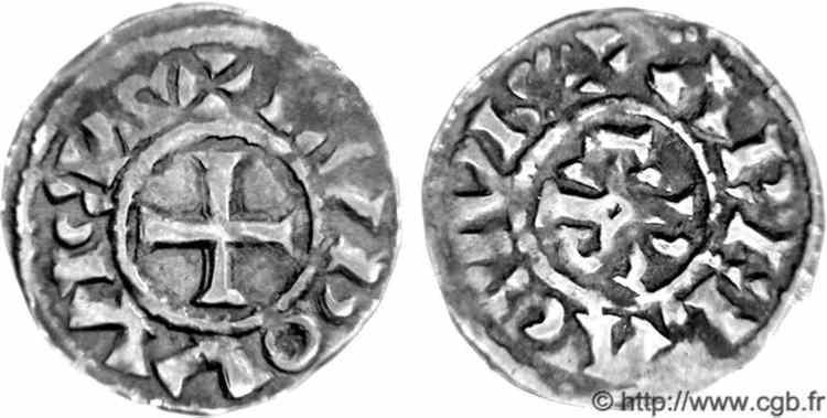 denier pour archevêque ITIER (965-978) de la ville d'Arles V05_0673