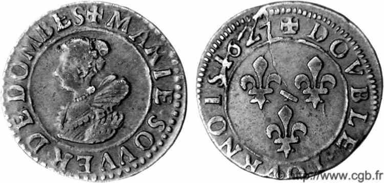 Francia, double tournois (Gaston d'Orleans), 1636. V05_1271