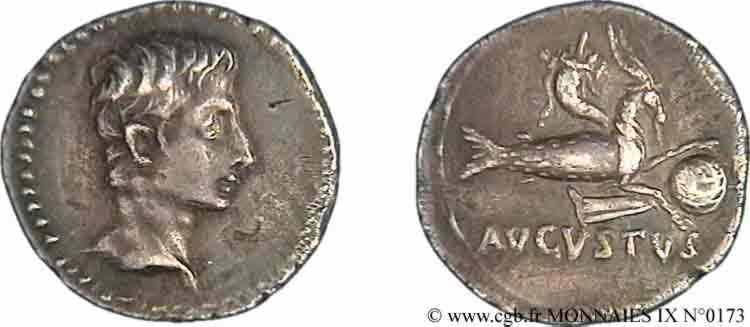 Denier d'Auguste au Capricorne ... V09_0173