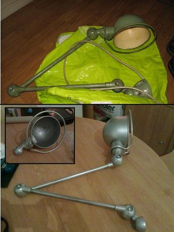 Restauration d'une lampe Jieldé Lampe210