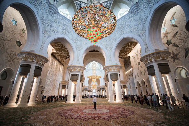 La espectacular Mezquita Sheikh Zayed en Abu Dabi Mezquita-sheikh-zayed