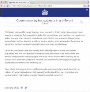"""Королева Елизавета предупредила о начале «священной войны» и сказала, что теперь «никто не знает, кто будет жить, а кто умрет» (В ответ Президент Путин заявляет, что королева Елизавета """"не человек""""?) Queen-statement-reptilian-294x300"""