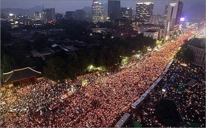 OUTRAGE! South Korea's Satanic President Park Geun-hye Impeached - Millions Protest In The Streets  Kor3-300x187